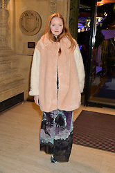 LILY COLE at the opening night of Amaluna by Cirque Du Soleil at The Royal Albert Hall, London on 19th January 2016.