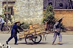 Man & Woman With Cart
