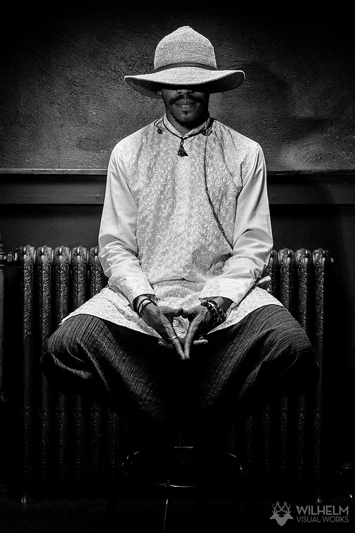 A portrait of Kamau at Red Bull Sound Select Presents Denver at the Bluebird Theater in Denver, CO, USA, on 29 April, 2017.
