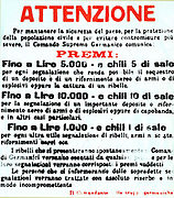 Manifesto propaganda of the German Command Officers in Italy