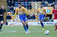 Tyler Walker of Mansfield Town (19) plays in a colleague during the The FA Cup match between Mansfield Town and Charlton Athletic at the One Call Stadium, Mansfield, England on 11 November 2018.