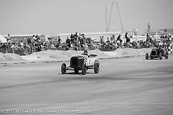 TJ Ogrady in his 1928 Ford Paheton at the Race of Gentlemen. Wildwood, NJ, USA. October 11, 2015.  Photography ©2015 Michael Lichter.