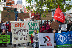 2019-10-17 Global South mining-affected communities protest outside BHP AGM