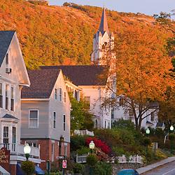 Main Street, Camden, Maine, fall.