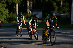 Malgorzata Jasinska closes onto Ratto's wheel at the Crescent Vargarda - a 42.5 km team time trial, starting and finishing in Vargarda on August 11, 2017, in Vastra Gotaland, Sweden. (Photo by Sean Robinson/Velofocus.com)