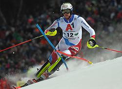 "29.01.2019, Planai, Schladming, AUT, FIS Weltcup Ski Alpin, Slalom, Herren, 1. Lauf, im Bild Ramon Zenhaeusern (SUI) // Ramon Zenhaeusern of Switzerland in action during his 1st run of men's Slalom ""the Nightrace"" of FIS ski alpine world cup at the Planai in Schladming, Austria on 2019/01/29. EXPA Pictures © 2019, PhotoCredit: EXPA/ Erich Spiess"