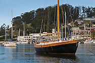 Sailboat Anchored in Morro Bay, California