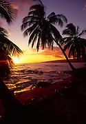 Sunset, Pakala, Kauai, Hawaii, USA<br />