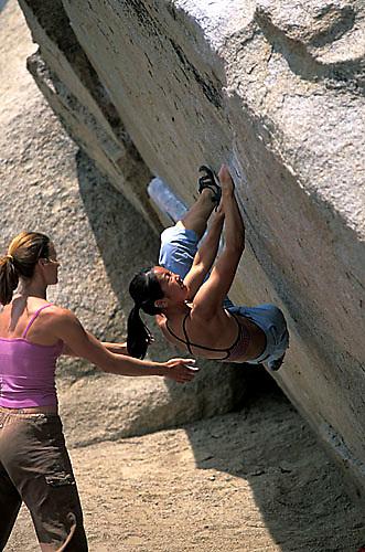 Bouldering in Bishop, CA.<br />