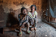 Bukavu, South Kivu, Rd Congo, 10 year old war orphin with his grand mother who gives shelter to the child. August 2010.