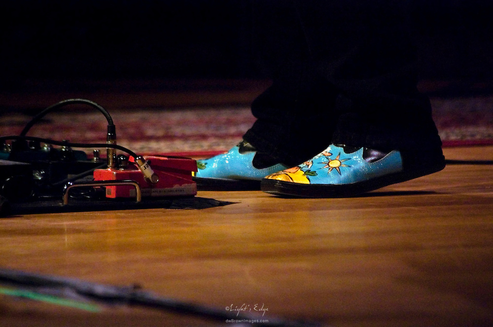 Great shoes being worn by Janis Ian on stage.