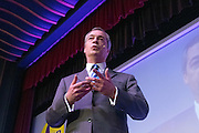 © Licensed to London News Pictures. 27/02/2015. Margate, UK . Nigel Farage delivers his Leader's Speech. The UKIP spring conference at Margate Winter Gardens 27th February 2015. Photo credit : Stephen Simpson/LNP