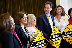 © licensed to London News Pictures. London, UK 06/05/2014. Nick Clegg visits the Cypriot Community Centre in north London as he launches Liberal Democrat party's 2014 local election campaign on Tuesday, May 6, 2014. Photo credit: Tolga Akmen/LNP