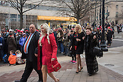ANDREA CATSIMATISIS; JOHN  CATSIMATIDIS ; MARGO CATSIMATIDIS; ( ? ) CINDY ADAMS, Public going to the Inauguration of Donald Trump and demonstrators and various entrances,  Washington DC. 20  January 2017