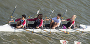 Chiswick, London, Great Britain.<br /> Radnor House Sch. mixed,J16 Quads<br /> 2016 Schools Head of the River Race, Reverse Championship Course Mortlake to Putney. River Thames.<br /> <br /> Thursday  17/03/2016<br /> <br /> [Mandatory Credit: Peter SPURRIER;Intersport images]