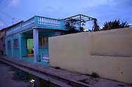 House at dusk in Gibara, Holguin, Cuba.