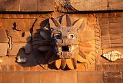 MEXICO, TEOTIHUACAN Temple of Quetzalcoatl sculpture