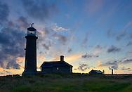 Sunset over Old Light, Lundy Island, Devon