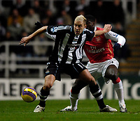 Photo: Jed Wee/Sportsbeat Images.<br /> <br /> Newcastle United v Arsenal. The FA Barclays Premiership. 05/12/2007.<br /> <br /> <br /> <br /> Newcastle's Alan Smith (L) with Arsenal's Kolo Toure.