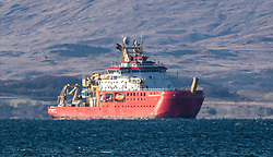 RRS Sir David Attenborough research vessel conducting sea trails in the Firth of Lorne near Oban..…….. (c) Stephen Lawson | Edinburgh Elite media