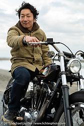 Sureshot's Takuya Aikawa riding his custom 1974 Ironhead XLH Sportster on the SureShot ride around Chiba, Japan. Saturday, December 8, 2018. Photography ©2018 Michael Lichter.