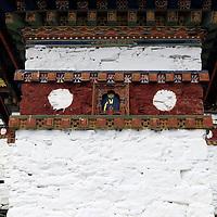 Asia, Bhutan, Thimpu. Detail of Chorten at Dochula Pass.