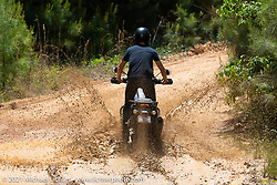 Sean Lichter tests a brand new Harley-Davidson Pan-America adventure bike near the Tennessee Motorcycles and Music Revival at Loretta Lynn's Ranch. Hurricane Mills, TN, USA. May 23, 2021. Photography ©2021 Michael Lichter.
