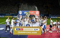 Leeds United celebrate<br /> <br /> Photographer Alex Dodd/CameraSport<br /> <br /> The EFL Sky Bet Championship - Leeds United v Charlton Athletic - Wednesday July 22nd 2020 - Elland Road - Leeds <br /> <br /> World Copyright © 2020 CameraSport. All rights reserved. 43 Linden Ave. Countesthorpe. Leicester. England. LE8 5PG - Tel: +44 (0) 116 277 4147 - admin@camerasport.com - www.camerasport.com