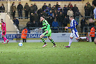 Forest Green Rovers Sam Wedgbury(8) returns after a long term injury as a sub during the FA Trophy 2nd round match between Chester FC and Forest Green Rovers at the Deva Stadium, Chester, United Kingdom on 14 January 2017. Photo by Shane Healey.