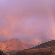 A rainbow over Sable Pass in Denali National Park, Alaska.