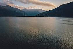 THEMENBILD - der Zeller See mit dem Kitzsteinhorn bei Sonnenuntergang, aufgenommen am 31. Juli 2020 in Thumersbach, Österreich // the Zeller See with the Kitzsteinhorn at sunset, Thumersbach, Austria on 2020/07/31. EXPA Pictures © 2020, PhotoCredit: EXPA/ JFK