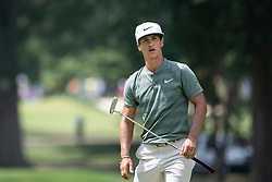 August 5, 2018 - Akron, OH, U.S. - AKRON, OH - AUGUST 05:   Thorbjorn Olesen (DEN) watches his putt on the fifth green the fifth green during the final round of the World Golf Championships - Bridgestone Invitational on August 5, 2018 at the Firestone Country Club South Course in Akron, Ohio. (Photo by Shelley Lipton/Icon Sportswire) (Credit Image: © Shelley Lipton/Icon SMI via ZUMA Press)