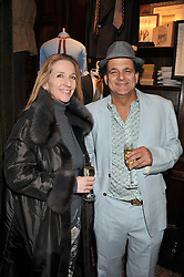 ? and ? at a reception hosted by Ralph Lauren Double RL and Dexter Fletcher before a private screening of Wild Bill benefitting FilmAid held at RRL 16 Mount Street, London on 26th March 2012.