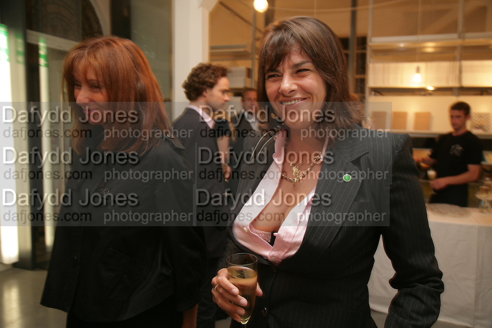 Anita Zabludowicz and Tracey Emin gallery opening dinner at 176 Prince of Wales Road, NW5 17 September 2007. -DO NOT ARCHIVE-© Copyright Photograph by Dafydd Jones. 248 Clapham Rd. London SW9 0PZ. Tel 0207 820 0771. www.dafjones.com.