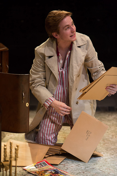 Royal Exchange Theatre production of Billy Liar by Keith Waterhouse & Willis Hall. Directed by Sam Yates. Cast: Sue Wallace, Lisa Millett, Jack Deam, Harry McEntire, Aaron Anthony, Rebekah Hinds, Katie Moore, Emily Barber