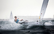 The 2015 Laser Women's Radial World Championship. Mussanah. Oman. November 18-26 November. Day 4 of racing - Alison Young (GBR)Image licensed to Lloyd Images