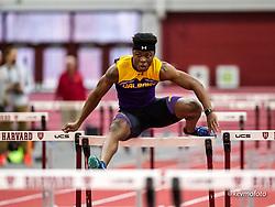 Harvard University<br /> Crimson Elite Indoor track & field meet<br /> 60m hurdles, men,