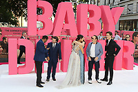 Baby Driver cast, CJ Jones, Edgar Wright, Eiza Gonzalez, Jon Hamm, Lily James, Kevin Spacey, Ansel Elgort, Jamie Foxx, Baby Driver - European film premiere, Leicester Square, London UK, 21 June 2017, Photo by Richard Goldschmidt