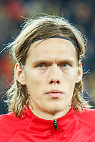 CLUJ-NAPOCA, ROMANIA, MARCH 26: Denmark's national soccer player Jannik Vestergaard pictured before the 2018 FIFA World Cup qualifier soccer game between Romania and Denmark, on March 26, at Cluj Arena Stadium, in Cluj-Napoca, Romania. (Photo by Mircea Rosca/Getty Images)