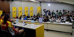 07-11-2010 VOLLEYBAL: WORLD CHAMPIONSHIP: PERU - KOREA: TOKYO<br /> Korea beat Peru with 3-1 / Pressconference China<br /> ©2010-WWW.FOTOHOOGENDOORN.NL