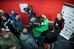 Matjaz Kopitar, head coach during first meeting of Slovenian Ice Hockey National Team for IIHF World Championships Ostrava 2015, on April 5, 2015 in Arena Podmezakla, Jesenice, Slovenia. Photo by Vid Ponikvar / Sportida