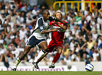 Photo: Chris Ratcliffe, Digitalsport<br /> Tottenham Hotspur v Middlesbrough. The Barclays Premiership. 20/08/2005.<br /> Anthony Gardner tries to get away from Gaizka Medieta of Boro<br /> Norway only