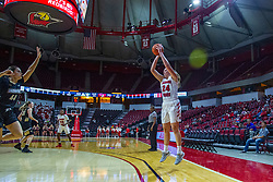 NORMAL, IL - October 30: Megan Talbot shoots for three during a college women's basketball game between the ISU Redbirds and the Lions on October 30 2019 at Redbird Arena in Normal, IL. (Photo by Alan Look)
