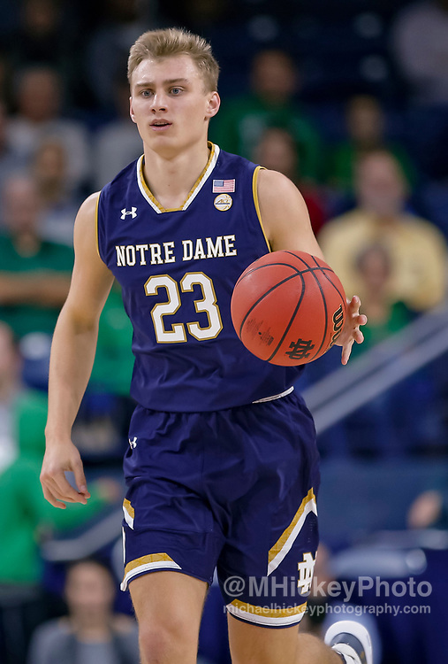 SOUTH BEND, IN - NOVEMBER 08: Dane Goodwin #23 of the Notre Dame Fighting Irish is seen during the game against the Chicago State Cougars at Purcell Pavilion on November 8, 2018 in South Bend, Indiana. (Photo by Michael Hickey/Getty Images) *** Local Caption *** Dane Goodwin