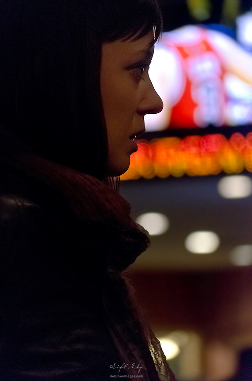 A candid portrait of Liz at Red Hot & Blue in Cherry Hill, NJ.