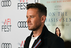 November 8, 2018 - ARMIE HAMMER attends the Opening Night World Premiere Gala Screening of 'On The Basis Of Sex' at AFI FEST 2018 Presented By Audi at TCL Chinese Theatre (Credit Image: © Billy Bennight/ZUMA Wire)