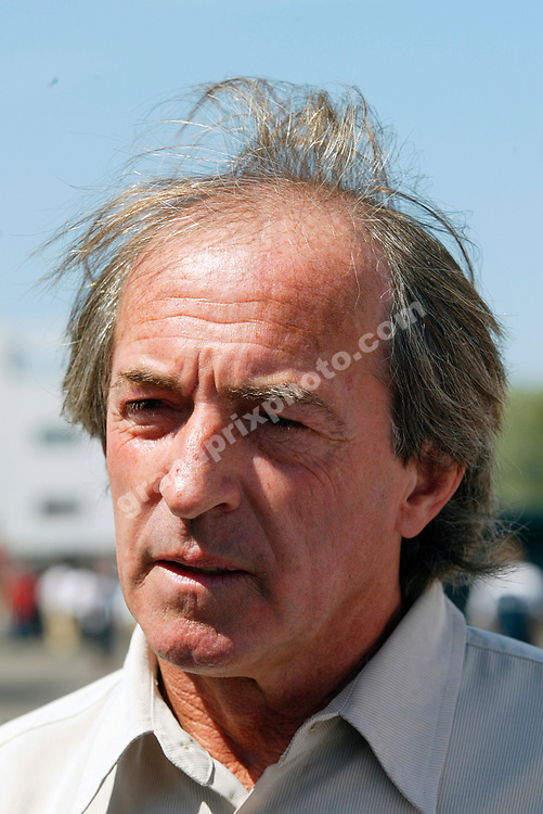 Jacques Laffite in the paddock in Magny-Cours before the 2005 French Grand Prix. Photo: Grand Prix Photo