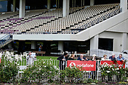 Punters and race fans during lockdown level 2.<br /> Race 7, Haunui Farm King's Plate (G3) 1200.<br /> Vodafone Derby Day at Ellerslie Race Course, Auckland on Sunday 7th March 2021 during lockdown level 2.<br /> Copyright photo: Alan Lee / www.photosport.nz