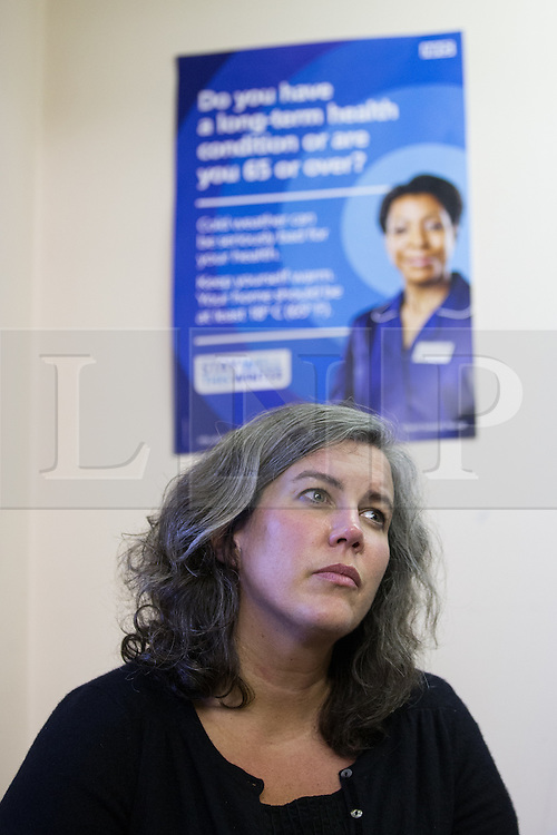 © Licensed to London News Pictures . 01/12/2015 . Oldham , UK . Labour Shadow Health Secretary HEIDI ALEXANDER talking to patients at Royton Medical Centre in Oldham , as part of Labour's campaign for the seat of Oldham West and Royton , following the death of sitting MP Michael Meacher . Photo credit : Joel Goodman/LNP