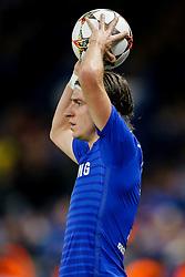 Filipe Luis of Chelsea takes a throw in - Photo mandatory by-line: Rogan Thomson/JMP - 07966 386802 - 10/12/2014 - SPORT - FOOTBALL - London, England - Stamford Bridge - Sporting Clube de Portugal - UEFA Champions League Group G.